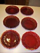 Cranberry Glass Plates