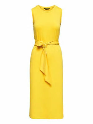 NWT Banana Republic Soft Ponte Midi Tank Dress, Yellow, sz M Medium  #326224