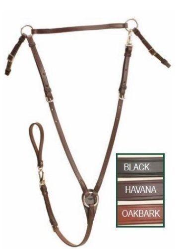 Tory Flat Hunt Leather Breastplate - Black, Oakbark or Havana Brown - HORSE