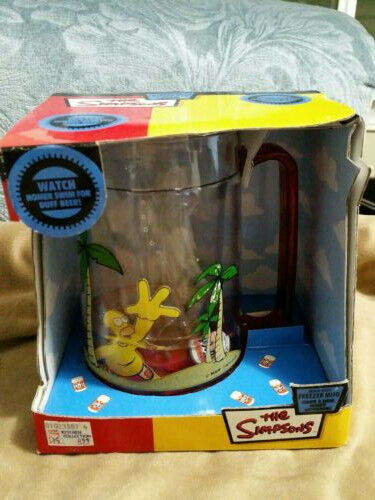Brand new Vintage 2005 Homer Simpson Duff Beer Beach Bash Freezer Mug