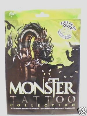MONSTER TATTOO COLLECTION 50+ ASSORTED TEMP TATTOOS  (Monster Tattoo)