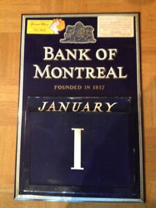 Vintage Rare Bank of Montreal Perpetual Wall Calendar West Island Greater Montréal image 1