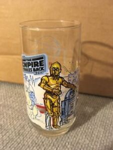 Vintage 1980 STAR WARS Empire Strikes Back R2-D2 C3PO Glass