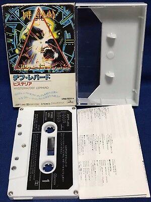 Def Leppard Hysteria Japan Cassette Tape 25PT-265 Love Bites Armageddon It