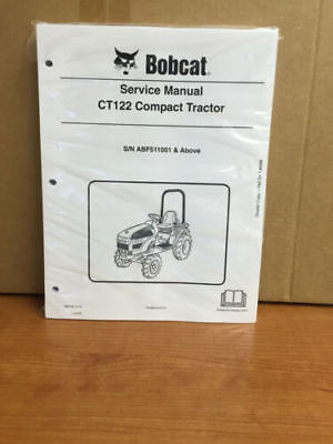 Bobcat Ct122 Compact Tractor Service Manual Shop Repair Book Part  6987028