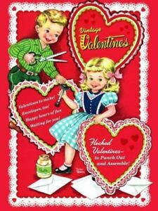23 Full-Color Pressure-Sensitive Designs Old-Time Valentine Stickers