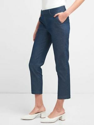 Gap Women's Dark Denim Slim City Crop Pants Size 12