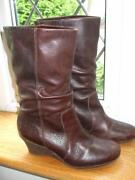 Wedge Boots Size 3