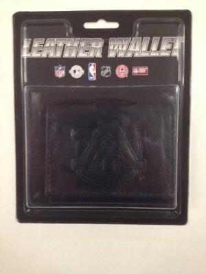 Auburn Tigers Black Tri-Fold Leather Wallet Auburn Tigers Black Leather