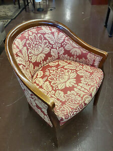 red and gold tub chair, set of 2 chairs, 3-seat sofa bed