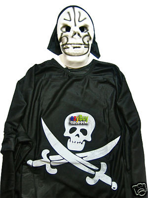 Halloween Skeleton Boys Budget Costume Medium Sz 5 - 7  - Budget Halloween Costumes