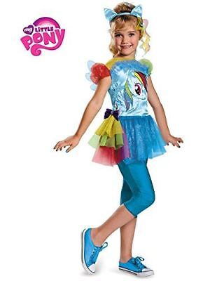 Disguise Hasbro's My Lil' Pony Rainbow Dash Classic Girls Costume - 2 Sizes - My Lil Pony Costume