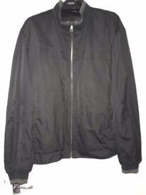 Men's Autograph & M&S Black Bomber Style Jacket Size XL