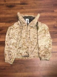 USMC Lightweight Exposure Jacket Parka Desert Marpat Goretex Small Regular