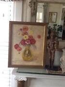 Vintage Rose Oil Painting