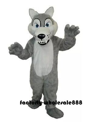 Halloween Wolf Siberian Husk Dog Mascot Costume Animal dress Adult Free - Dog Halloween Costumes Wolf