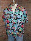 Hawaiian Black Hawaiian Vintage Casual Shirts for Men