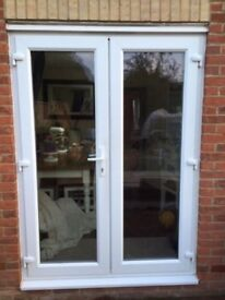 BRAND NEW WHITE UPVC FRENCH DOORS 1500MMX2100MM SUPPLY ONLY
