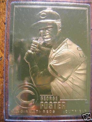 469f42db0cb Danbury Mint 22k MLB Card George Foster Series 1-045