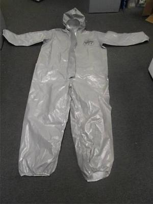 Dupont Tychem Cpf 2 2xl Coverall Chemical Hazmat Silver Suit Xxl 2t431