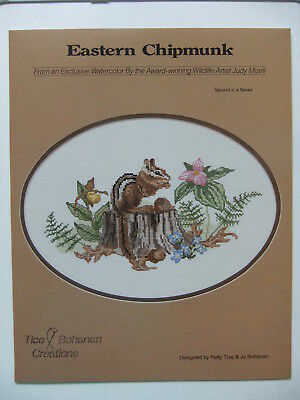 """Eastern Chipmunk"" Cross-Stitch Design by Tice-Bohanan Creat"