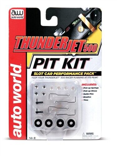 AUTO WORLD 00103 Thunderjet 500 Pit Kit HO Scale Slot Car Performance Pack