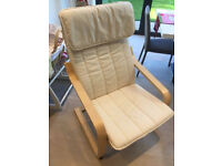 ikea poang chair, white, good condition