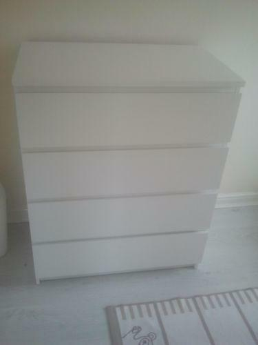 ikea malm chest of drawers ebay. Black Bedroom Furniture Sets. Home Design Ideas