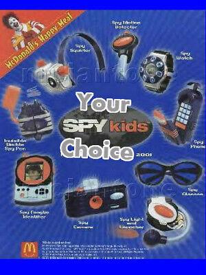 MIP McDonald's 2001 SPY KIDS Dress Up SNOOP Cosplay COSTUME Halloween CHOOSE TOY - Spy Kids Costumes