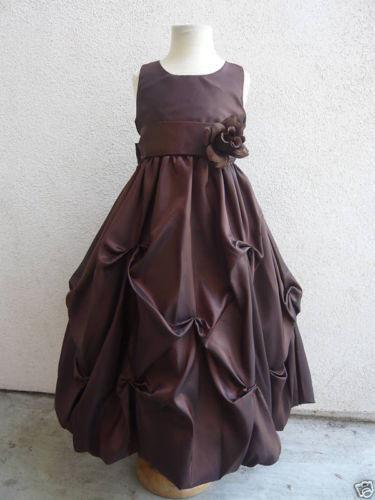 Chocolate Brown Flower Girl Dress