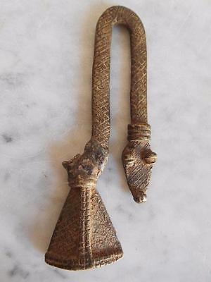 Figure Bronze Lobi Art Tribale African Arte African Afrika Kunst 13cm