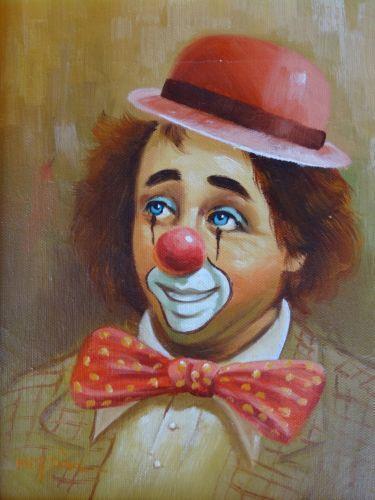 Famous Clown Oil Paintings