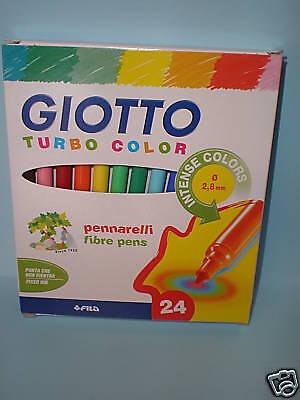 Pennarelli Turbocolor 24 colori giotto conf.1 scuola ufficio disegno cancelleria