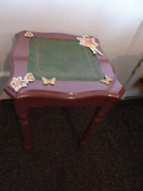 """LiT74) Cute little table for girls room """"Fairy Table"""" refurbished 16"""" tall"""