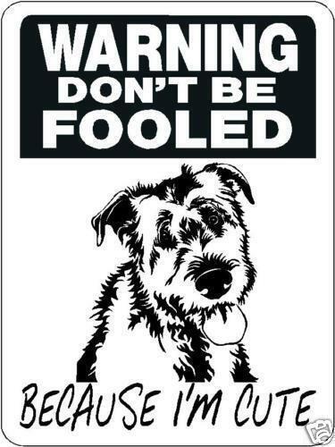 """0519 Irish Wolfhound 12""""x18"""" Aluminum Sign"""