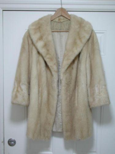 Vintage Blonde Mink Coat Ebay