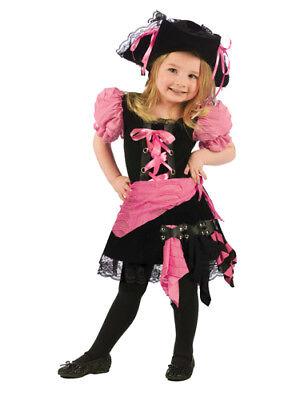 Pink Punk Pirate Girls Toddler Kids Halloween Costume](Pirate Toddler Girl Costume)