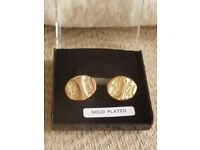 MENS GOLD PLATED CUFFLINKS - NEW