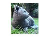 Stone prowling CAT ornament for Garden & Home fully weatherproof