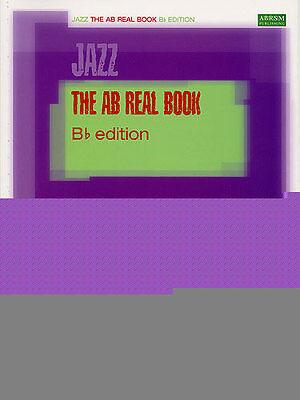 B-flat Clarinet Music Book - AB JAZZ REAL BOOK Music B b Flat Edition ABRSM Learn TENOR SAXOPHONE CLARINET