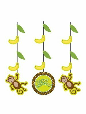 Monkey Themed Birthday Party (Monkeyin' Around party supplies Monkey theme Hanging cutouts)