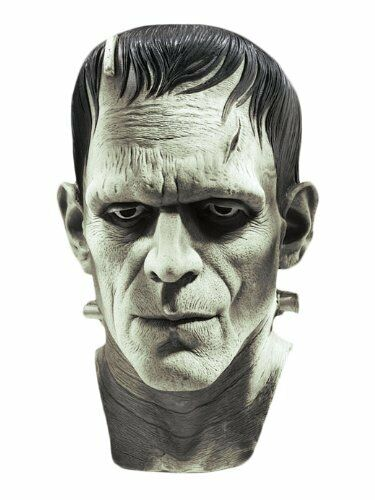 Frankenstein Mask Full Latex Universal Studios Boris Karloff Classic- Fast Ship