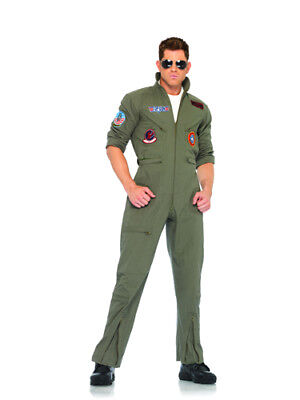 Top Gun Outfit Flight Suit Mens Halloween Costume (Topgun Outfit)