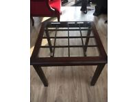 William Maclean High Quality Handmade Glass and Wooden Coffee Table