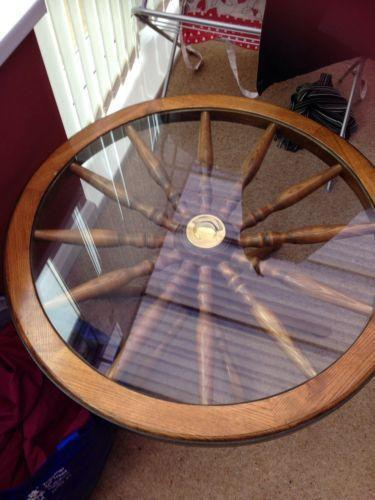 Wheel Coffee Table Ebay