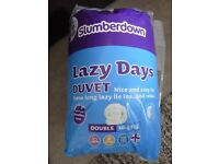 Slumberdown soft touch double duvet, packaged and new