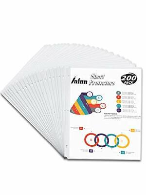 Sheet Protectors 8.5 X 11 Clear Page For 3 Ring Binder Plastic Sleeves Binders