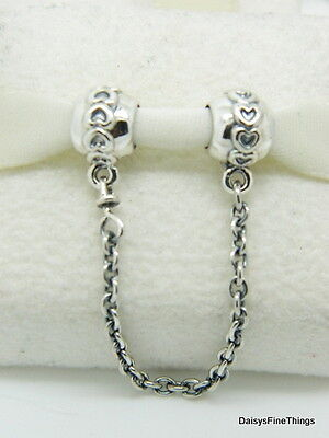 New  Authentic Pandora Charm Love Connection Safety Chain  791088 05   P