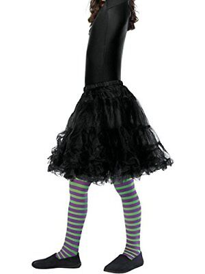 Green And Purple Striped Tights (Striped Tights Children's Purple And)