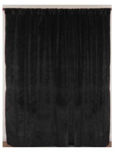 Black Velvet Backdrop Curtains Drapes Amp Valances Ebay